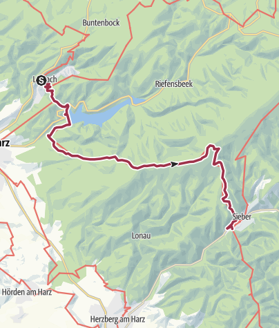 Karte / Harzer BaudenSteig 2: Von Lerbach nach Sieber