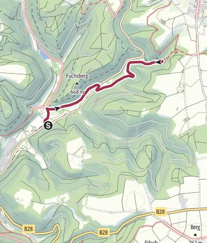 Karte / Elsachtal - Falkensteiner Höhle