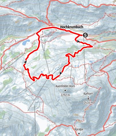 Karte / Hochkrumbacher Rundweg