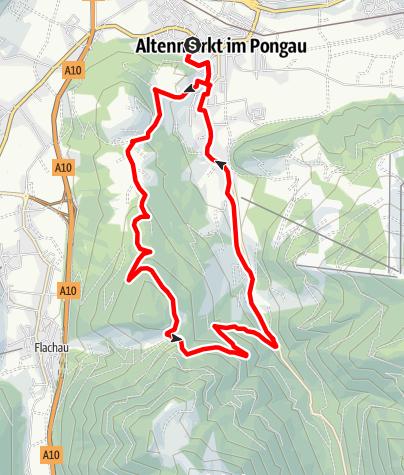 Karte / Sattelbauer-Rundtour Mountainbiken (13)