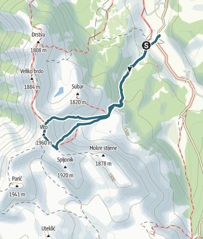 Map / Vito winter climb