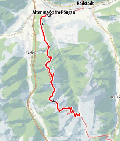 Karte / Alpin-Tour Zauchtal über Lackenkogel