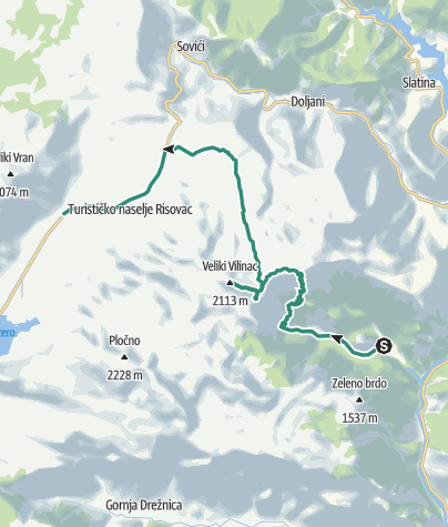 Map / Two-day experience - Climbing Mt Čvrsnica from Diva Grabovica