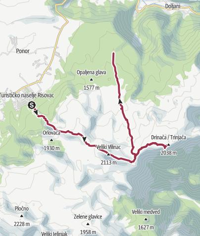 Map / Ski resort - Hajdučka vrata- Vitlenica