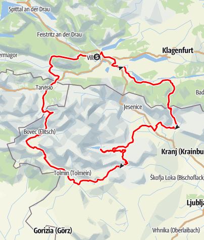 Karte / Drei-Länder-Tour