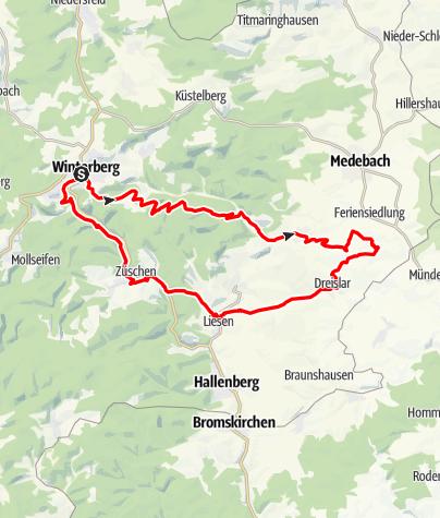 Karte / Sieben - Täler -  Tour
