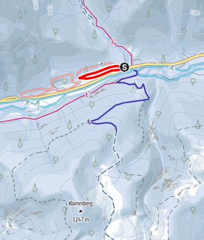 Karte / Skatingloipe Klamm - Bayerwald 0,9 km