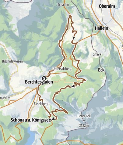 Karte / MTB: 12 - Berchtesgadener Panoramatour
