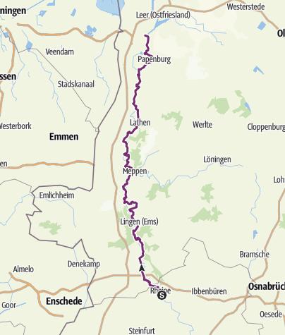 Kaart / Ems-Radweg