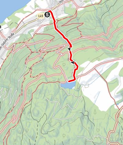 Karte / Wandern am Ossiacher Tauern - Über den Ossiacher Schluchtweg zum Tauernteich