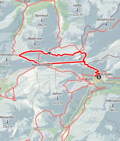 Karte / 3 Pässe Tour (Koblat-, Gemstel-, Hochalppass)
