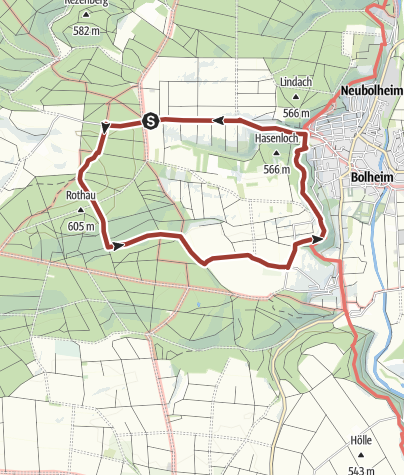 Karte / Urweltpfad Bolheim