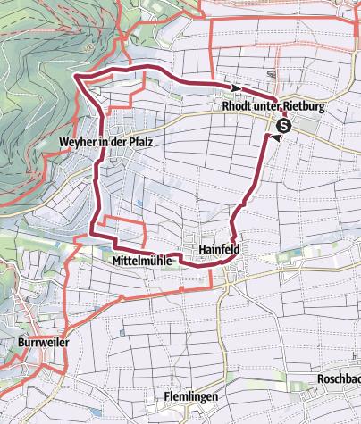 Map / Pfälzer Mandelpfad (Rundweg 2)
