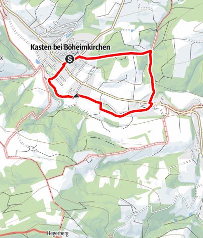 """Karte / Rundwanderung """"Stilles Tal""""- Kasten"""