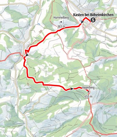 Karte / Fahrafelder Kirchenweg mit Aufstieg zum Hegerberg