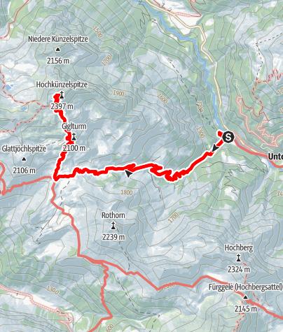 Karte / Hochkünzelspitze