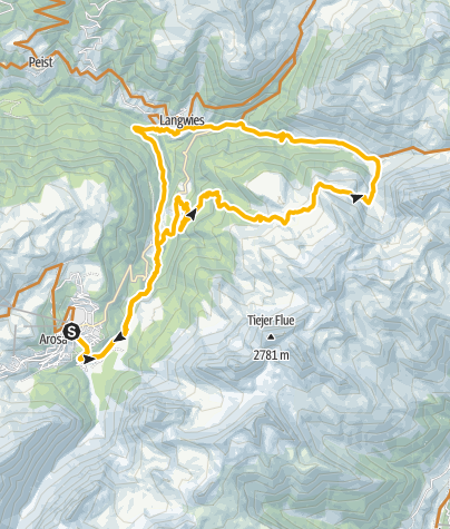 Karte / 633 Medergen - Arosa