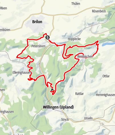 Map / Bike Arena Sauerland - Trailtour Nr. 33