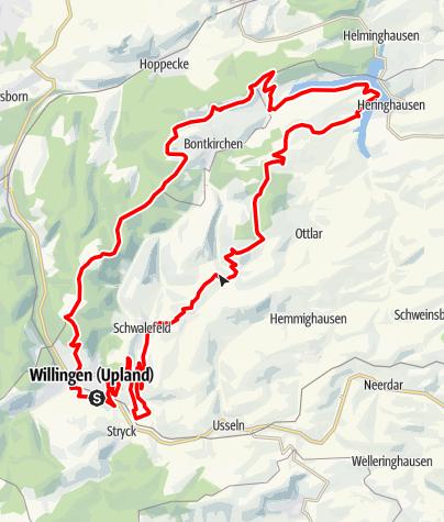 Karte / Bike Arena Sauerland - Diemelsee Tour Nr. 30