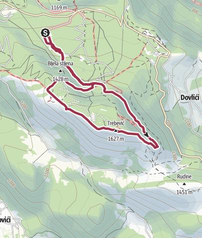 Map / Trebević via Eastern Ridge