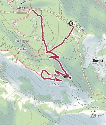 Map / Trebević via Brus