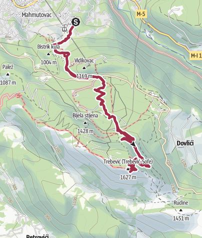 Map / Trebević