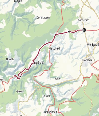 Map / Ausoniusweg 04. Etappe: Morbach-Gonzerath - Gräfendhron
