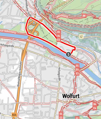 Map / Barrierefrei: Uferwege am Talrand – Die Runde Kennelbach–Weidach