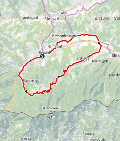 Karte / Austria Slovenija Tour Variante 1