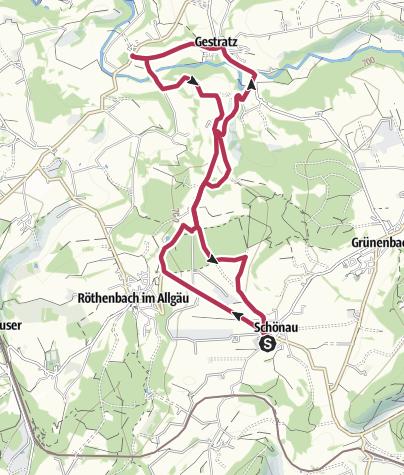 Karte / Streuobstwanderweg Schönau-Gestratz - Hoch hinaus - Streuobst im Allgäu