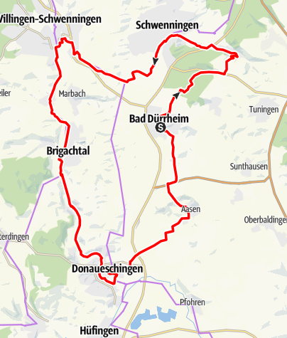 Karte / Quellen-Route