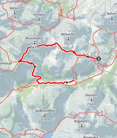 Karte / Göppingerhütte über den Butzensee