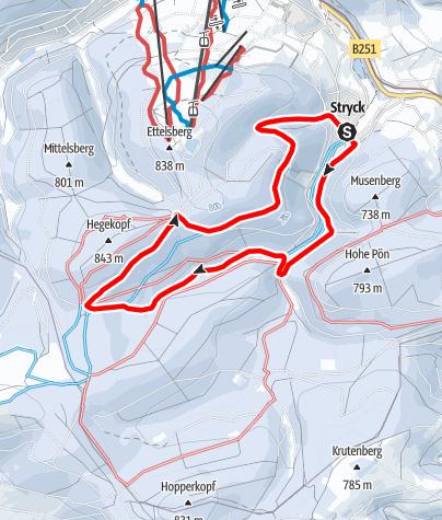 Karte / Winterwandern: Durchs Winterparadies Willingen