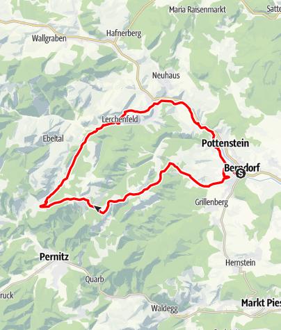 Térkép / Steinwandklamm - Strecke