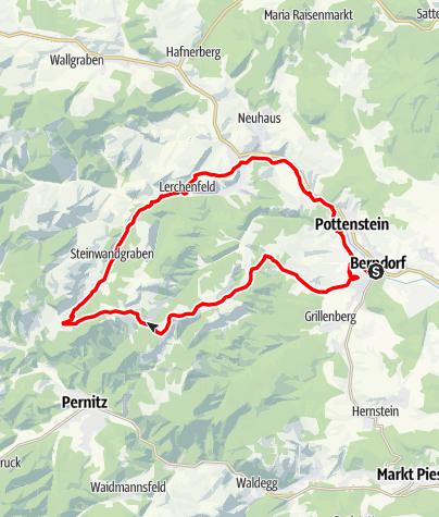 Karte / Steinwandklamm - Strecke
