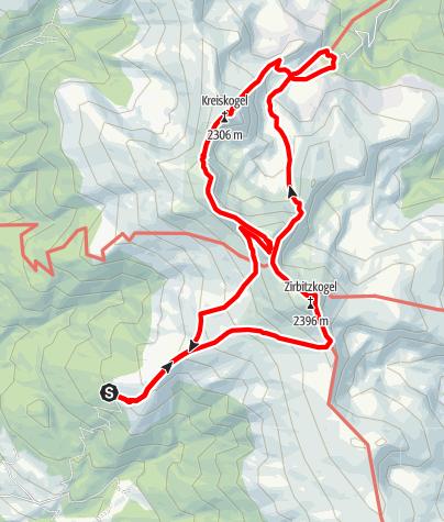 Map / Kreiskogel - Winterleiten