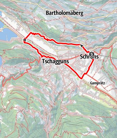 Karte / große Spazierrunde Schruns - Gantschier - Tschagguns - Schruns