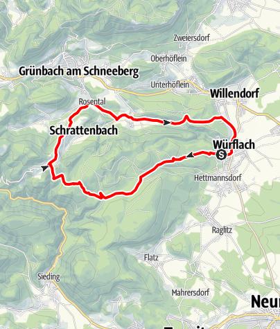 Mapa / Dürrnberg-Strecke