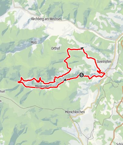 Térkép / Wechsel-Strecke