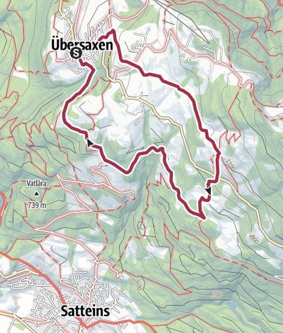Karte / Übersaxner Panorama-Rundweg