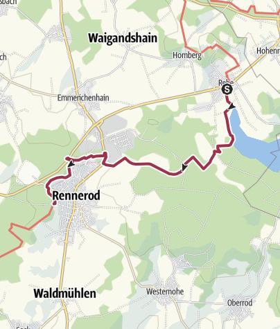 Karte / WesterwaldSteig  03. Etappe Fuchskaute - Rennerod (Ost-West)