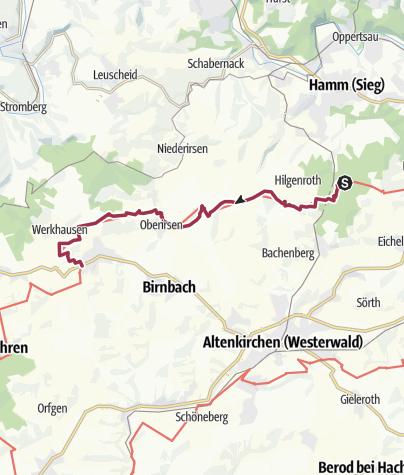 Karte / WesterwaldSteig  11. Etappe Kloster Marienthal - Weyerbusch (Ost-West)