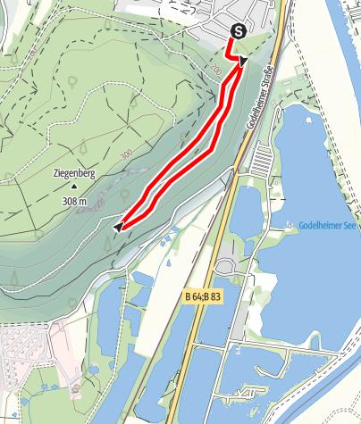 Kaart / Nordic Walking in Höxter - Route 1 (leicht)