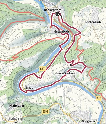 Karte / Vom Fluss zur Schlucht