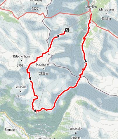 Karte / Schmugglertour (2-tägig) - Auf den Spuren der Säumer und Schmuggler