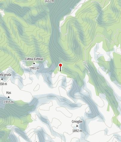 Mapa / Crne Kose Sklonište