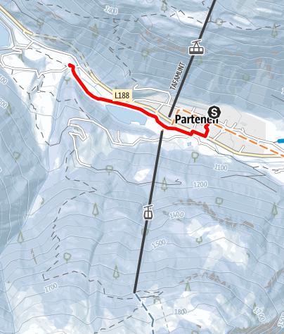 Map / Verbindungsloipe Partenen - Gaschurn (klassisch)