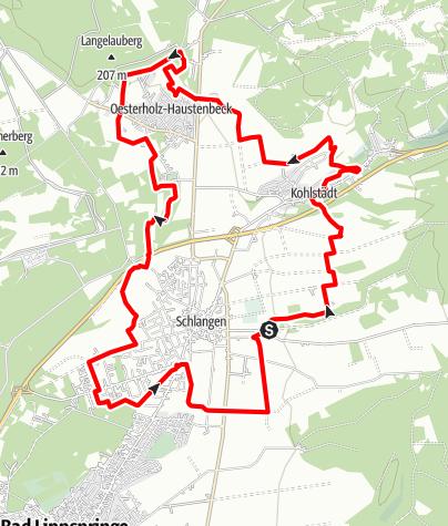 Karte / S-Weg Rundwanderweg um Schlangen