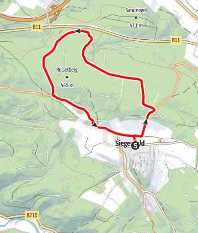 Karte / Reisetberg-Strecke