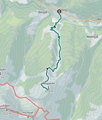 Map / Mittagskofel